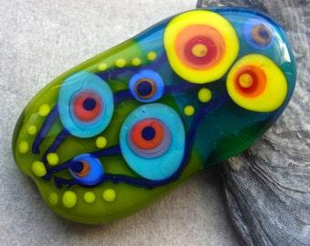 Abstract Garden - Handmade Lampwork Glass Bead by Anne Schelling, SRA