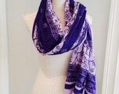 Tone-on-Tone Lavender & Purple Scarf Sarong