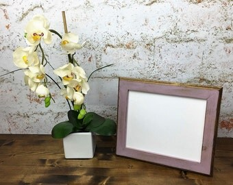 5 x 7 Picture Frame, Lilac Rustic Weathered Style With Routed Edges, Rustic Wooden Frame, Home Decor, Rustic Home Decor, Rustic Wood Frames