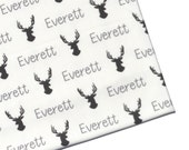 Personalized Name Swaddle - Stags