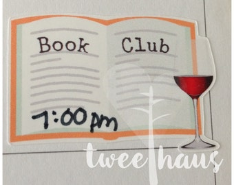 Book Club Stickers for Happy Planner or Erin Condren Vertical Planners