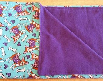 Chihuahua fabric baby blanket