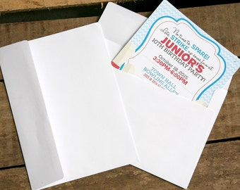 White Envelopes - Fits 5x7 Invitations