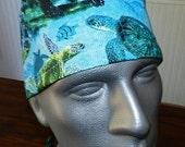Realistic Sea Turtles Unisex Style Surgical Cap
