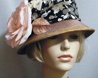 Flower cloque hat