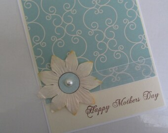 Pretty Mother's Day Card with flower and pearl