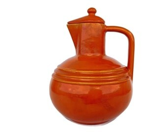 Burnt Orange  California Pottery Pitcher Pacific Pottery Pitcher / Jug Hostessware