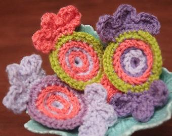 CROCHET PATTERN- Crochet Candy, Christmas Crochet Pattern for Ornaments- Instant PDF Download (33)