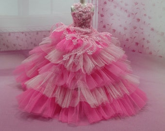 Blythe Outfit Clothing Cloth Fashion handcrafted beads lace tutu gown dress  958-10
