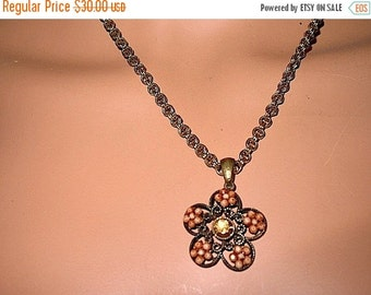 Gorgeous  Boho Hipster  Hippie Steampunk  Chunky Chain Victorian  Filigree Necklace Circa 1960s MINT