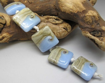 Earth and Sky - Lampwork Bead Set