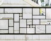 """Clear Textured Geometric BD-   32  1/16""""  x  7  3/8"""""""