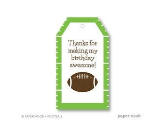Football PRINTABLE Gift Tag