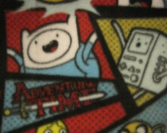 Adventure Time Characters with Red Couch Throw - Ready to Ship Now