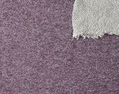 Eggplant Purple Heathered French Terry Knit Sweatshirt Fabric, 1 Yard PRE-ORDER