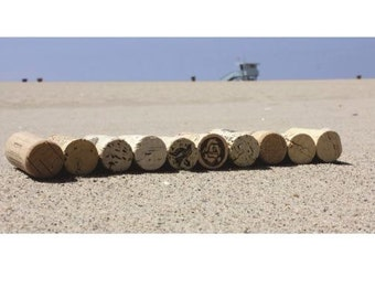 """Corks in the sand 12 x 18 """" color photo"""