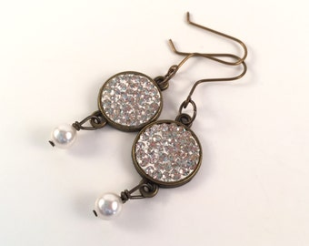 Pave Dangle Earrings