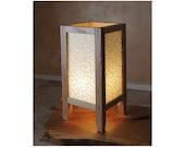 Table Lamp, arts & craft style, Oak hardwood and Yuzen paper