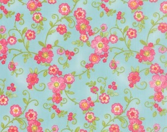 Colette - Quilting Fabric by Chez Moi from Moda - Sky Floral Flourish