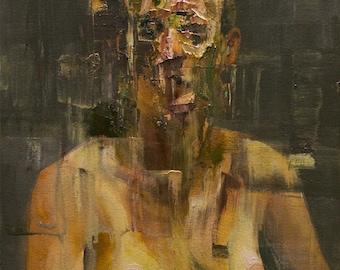 Figurative Study V, Original Oil Painting
