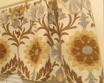SALE Release Window Curtain-Valance Waverly Santa Maria Beige Valance