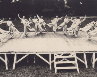 Dress Rehearsal in Montlucon, French RPPC of Harem Dancers, circa 1920s