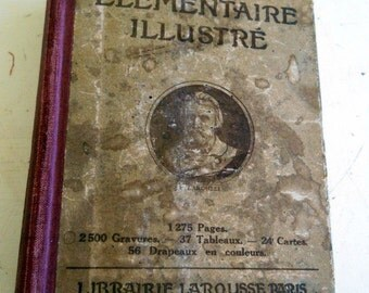 Sale! Vintage 1920s Illustrated French Dictionary Larousse Elementaire Illustre