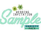 Standard Wedding Invitation Sample Variety Pack