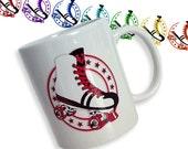 Retro Roller Skate Mug - Roller Derby Mug - Roller Derby Gift - Roller Girl Gift - Roller Disco Mug - Roller Skate Gift - 80s style mug