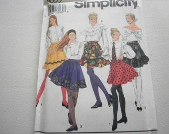 Pattern Vintage Ladies Mini Skirts 6 Styles Sizes 10 to 14 Simplicity 8027V