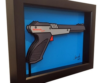 Video Game Art Nintendo Zapper Gun 3D Pop Art 1980s Print Artwork