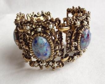 Baroque Style Panel Bracelet
