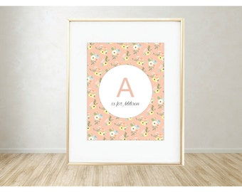 Personalized Printable Art: A is for...
