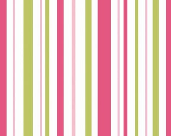 Primrose Garden Stripe Pink by Carina Gardner for Riley Blake, 1/2 yard