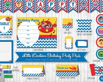 Little Einsteins Inspired Themed Printable Party Pack, Birthday Party Decorations, DIY Birthday Party
