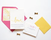 Wedding Invitation Sample - Simply in Love No. 2
