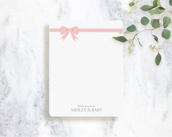 Personalized Note Card Set | Little Ribbon  | Baby Shower