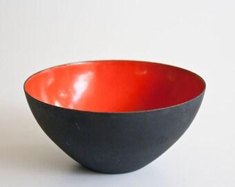 Vintage Mid Century Modern Krenit Enamel Bowl