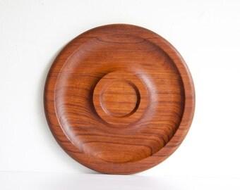 Vintage Danish Modern Style Kalmar Teak Wood Tray