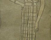 SALE 1920s Surplice Bodice Gatsby Miss Fisher Downton Abbey Epaulet Jabots Pleats Pictorial Review 6537 Women's Vintage Sewing Pattern Bust