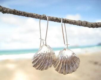 Sterling Silver Sunrise Shell Earrings