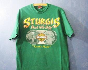 Vintage Harley Davidson Sturgis Black Hills Rally T-shirt Tee Shirt Vintage Soft T Vintage Fashion Size Medium