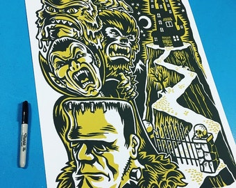 Monster Friends Screenprint