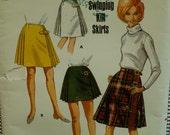 """60s Kilt Skirt Pattern, Side buckles, Side Pleats, Back A-line, Contour Waist, Butterick No. 4422 UNCUT Size Waist 26"""" Hip 36"""" (66, 92cm)"""