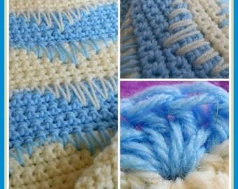 Blue Waves Afghan