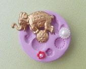 Silicone Circus Elephant Mold Ball Flower DIY Polymer Clay Fondant Resin Wax Cabochon Mold