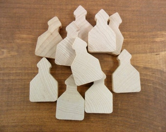 """School House Miniature Wood Shapes 1 3/4"""" x 1 1/16"""" x 1/4"""" Thick - 20 Pieces"""