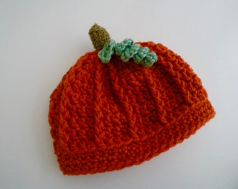 My Little Pumpkin Crochet Hat