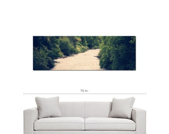 Stream Canvas - Forest Stream - Nature - Ethereal - River - Scenic - Wall Art - Panoramic Canvas - Fine Art - Large Canvas - 20 x 60 Canvas