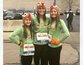 crochet turkey hat , turkey trot hat, adult turkey hat, Thanksgiving hat